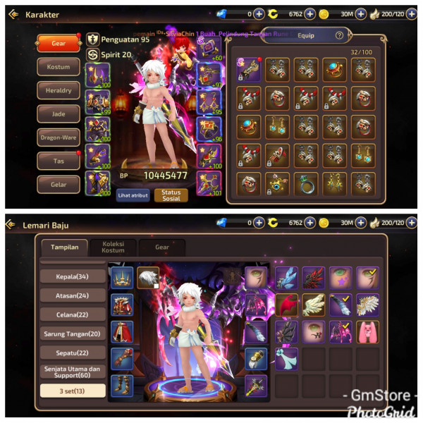 Akun Job Warrior | Server S1 | Bp 10M | Wing 6 set