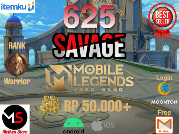 Akun 625 Savage bisa request ganti Nam Berwarna