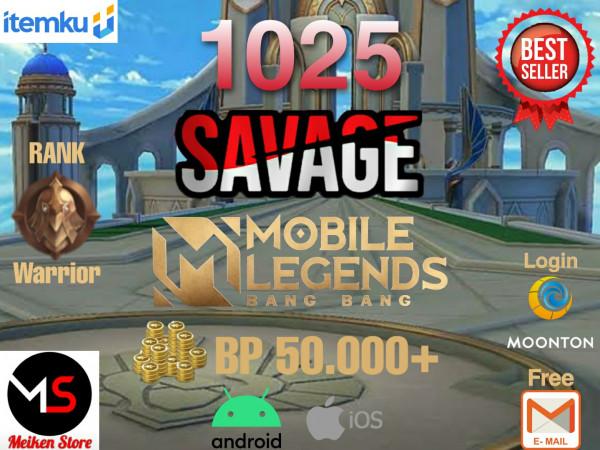 Akun 1025 Savage bisa request ganti Nama Berwarna