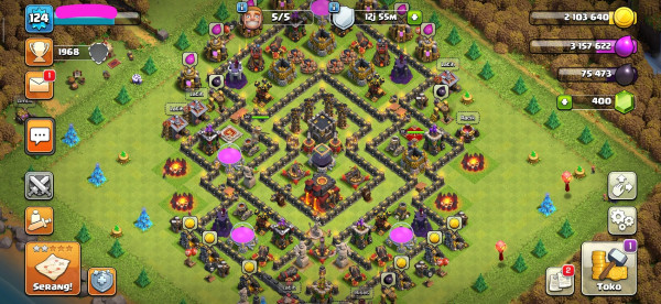 COC TH 10 GG HERO 22-19 HARGA MURAH | CN ON