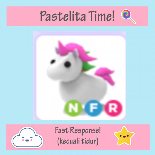 Unicorn NFR | Neon Fly and Ride - Adopt Me Roblox