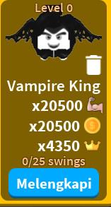 (New) Vampire King - pet saber simulator