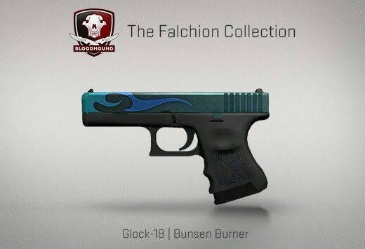 StatTrak™ Glock-18   Bunsen Burner (StatTrak™ Mil-Spec Pistol)