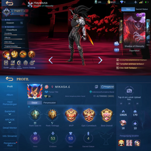 Mobile Legends Epic Limit Hayabusa ft LB Fanny