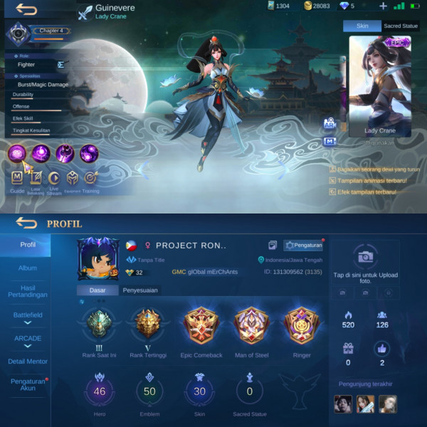 Mobile Legends Epic Limited Guinevere