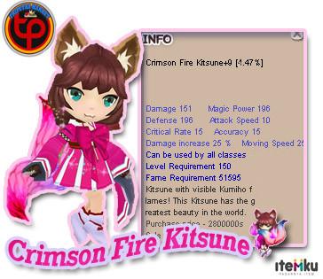 Crimson Fire Kitsune+9 Unnap