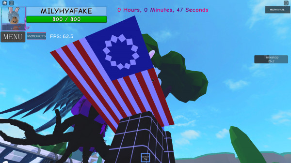 valentine flag    A Universal Time roblox