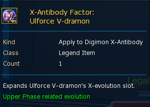 X-Antibody Factor : Ulforce V-Dramon