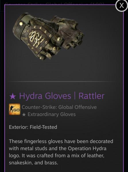 "Hydra Gloves | Rattler ""Field Tested"""