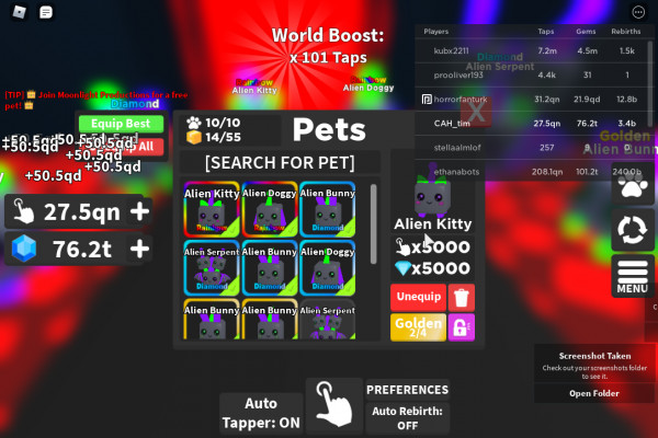pet in tapping mania