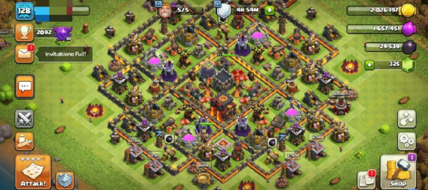 Clash of Clans SC ID-TH 10 Semi Max Village