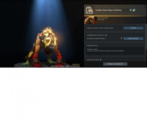 Golden Dark Maw Inhibitor (Immortal TI 10 LS)