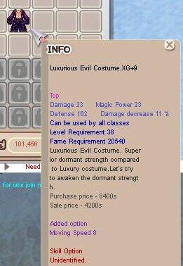 Luxurious Evil Costume XG+9