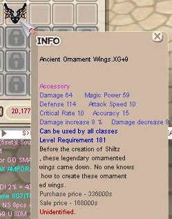 Ancient Ornament Wings XG+9