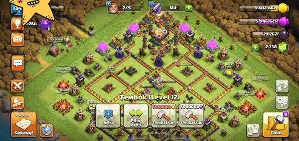 Town Hall 11 login Gp skin BK AC cnn500 geme 2700 murah