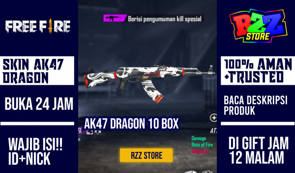 10 Box Loot Crate AK 47 FLAMING DRAGON