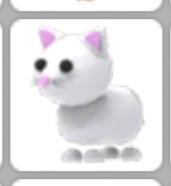 Snow cat pet Adopt me