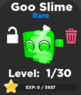 [ Pet battle simulator ] Goo slime 1 PCS