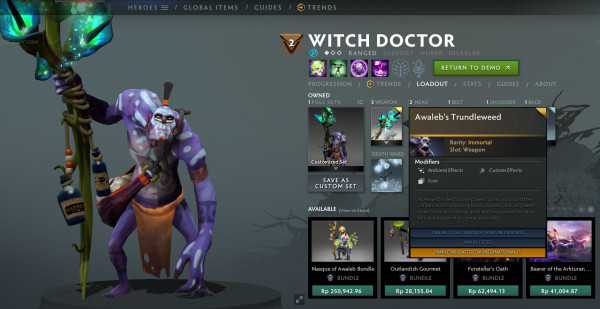 Awaleb's Trundleweed (Immortal TI 10 Witch Doctor)