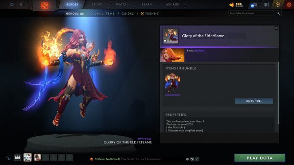 Glory of the Elderflame (Bundle Lina Collector's Cache TI 10)