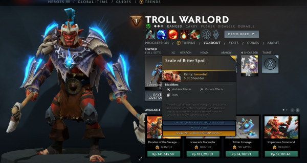 Scale of Bitter Spoil (Immortal TI 10 Troll Warlord)