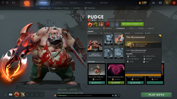 The Abscesserator ( Immortal TI 10 Pudge )