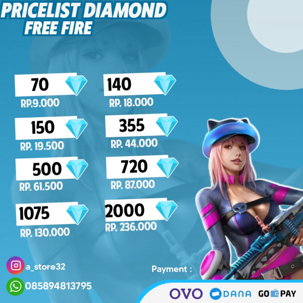 Top Up 70 Diamonds