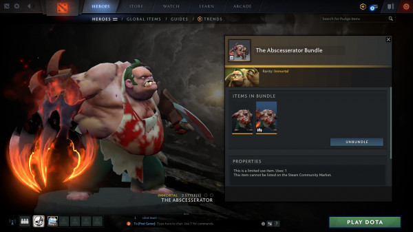 The Abscesserator Bundle (immortal pudge TI10)