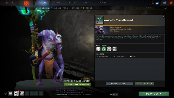Awaleb's Trundleweed (Immortal TI 10 Witch Doctor)