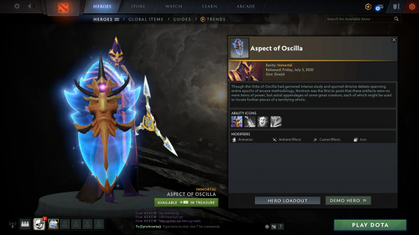 Aspect of Oscilla (Immortal TI 10 Silencer)