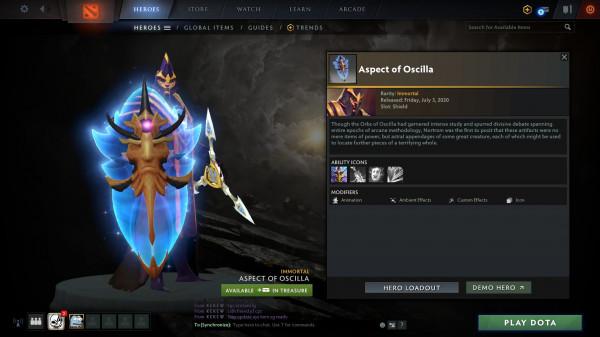 Aspect of Oscilla (Immortal TI 10 Silencer)