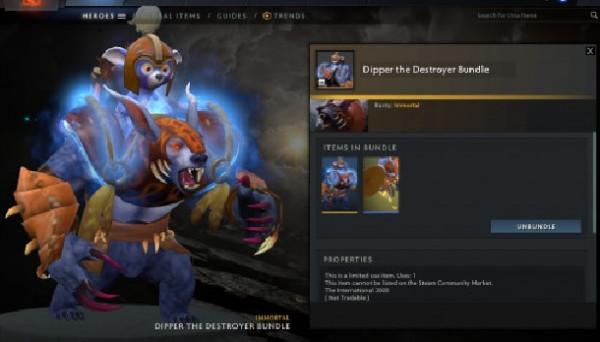 Dipper the Destroyer Bundle (Immortal TI 10 Ursa)