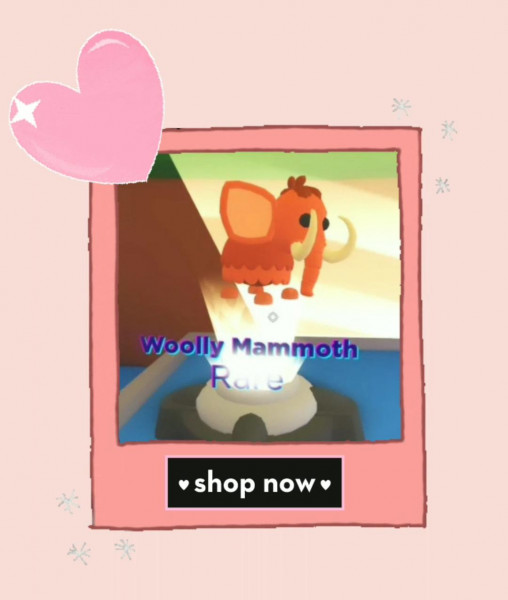 ROBLOX || Adopt Me Pet || Wolly Mammoth || Rare