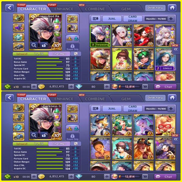 Dark Ra, Fairy Stella, Vesta, DLL