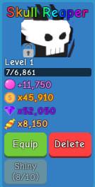 Skull Reaper l Bubble Gum Simulator