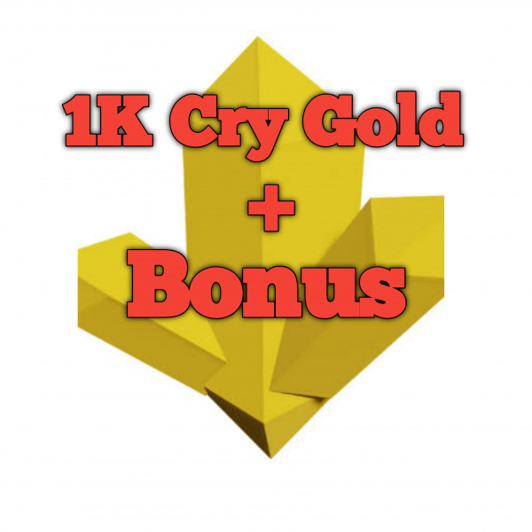 1k Cry Gold +Bonus island skyblox