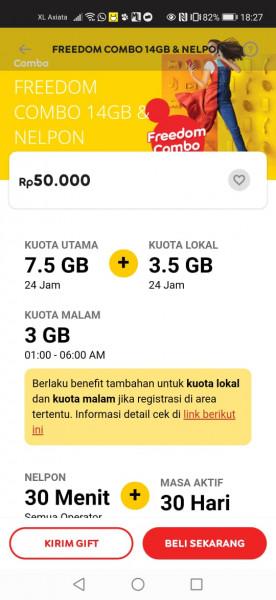 Freedom 30GB 30 Hari