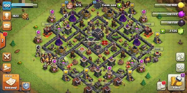 Town Hall 9 hero14/13 gems2500+