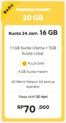 Freedom 20 GB 30 Hari