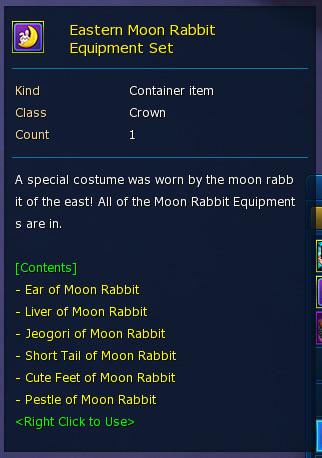 Eastern Moon Rabbit Equipment Set