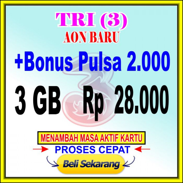 Voucher Data 3 GB