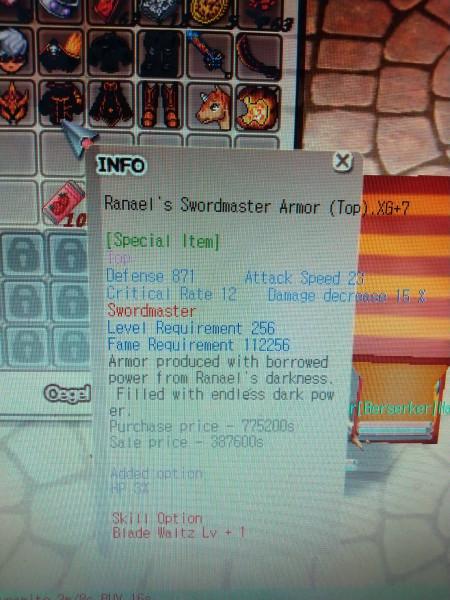 HTBS ranael Swordmaster xg 10,7,7,7