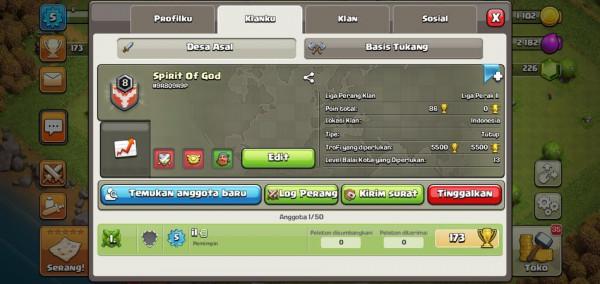 Clan Level 8 Spirit Of God