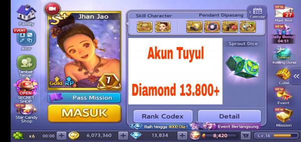Akun Tuyul ber Diamond #5