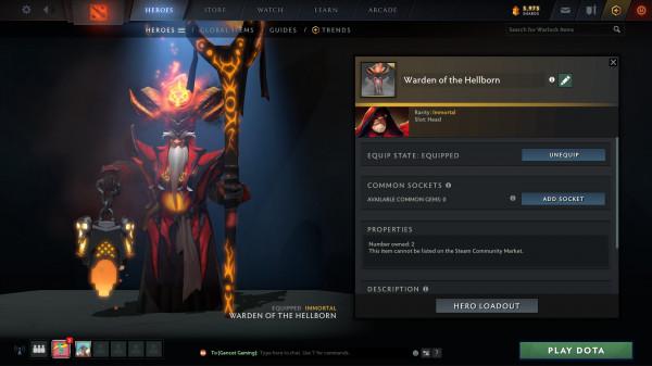 Warden of The Hellborn (Immortal Warlock TI10)