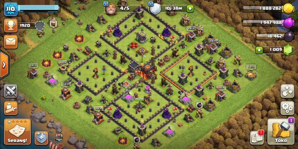 Town Hall 10 hero31/33 gems1009