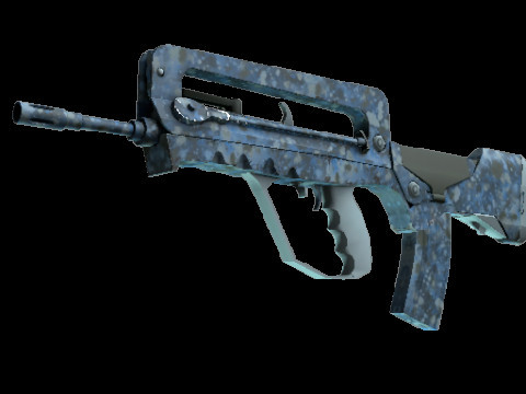 FAMAS | Cyanospatter (Industrial Grade Rifle)