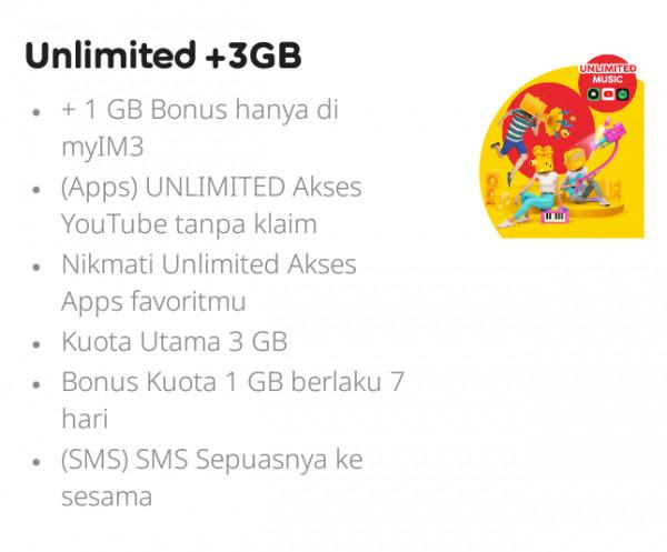Internet Unlimited + 3 GB