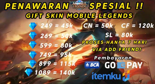 Skin 749 DIamond Mobile Legends