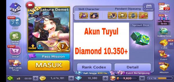 Akun Tuyul ber Diamond #2